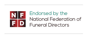 An endorsement logo by the NFFD (National Federation of Funeral Directors)